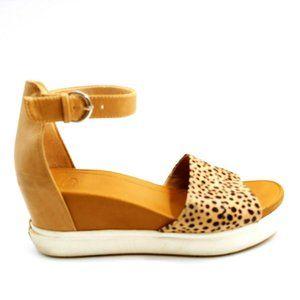Dr. Scholls Show Off Strappy Leopard Sandal 8.5